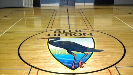 blue-heron-gym-floor-decal-pic