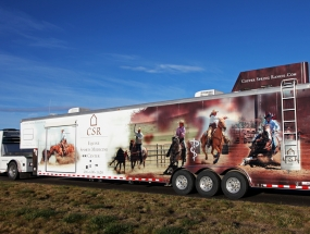 Drivers side trailer wrap -Copper Spring Ranch