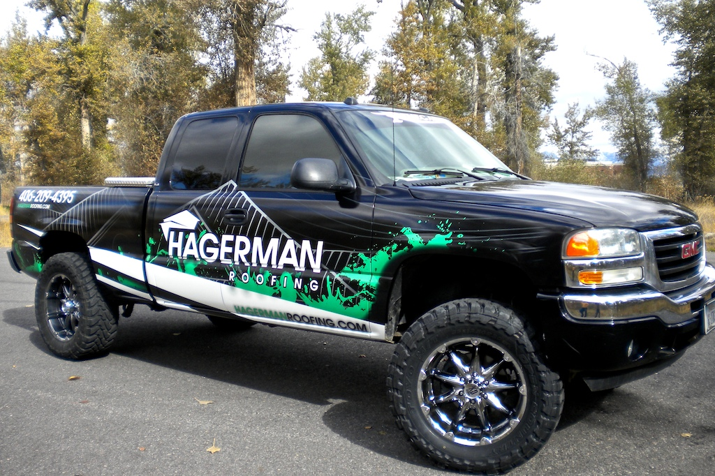Hagerman Roofing Pickup Truck Wrap 183 Let S Wrap