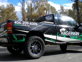 hagerman-roofing_GMC-pickup-wrap