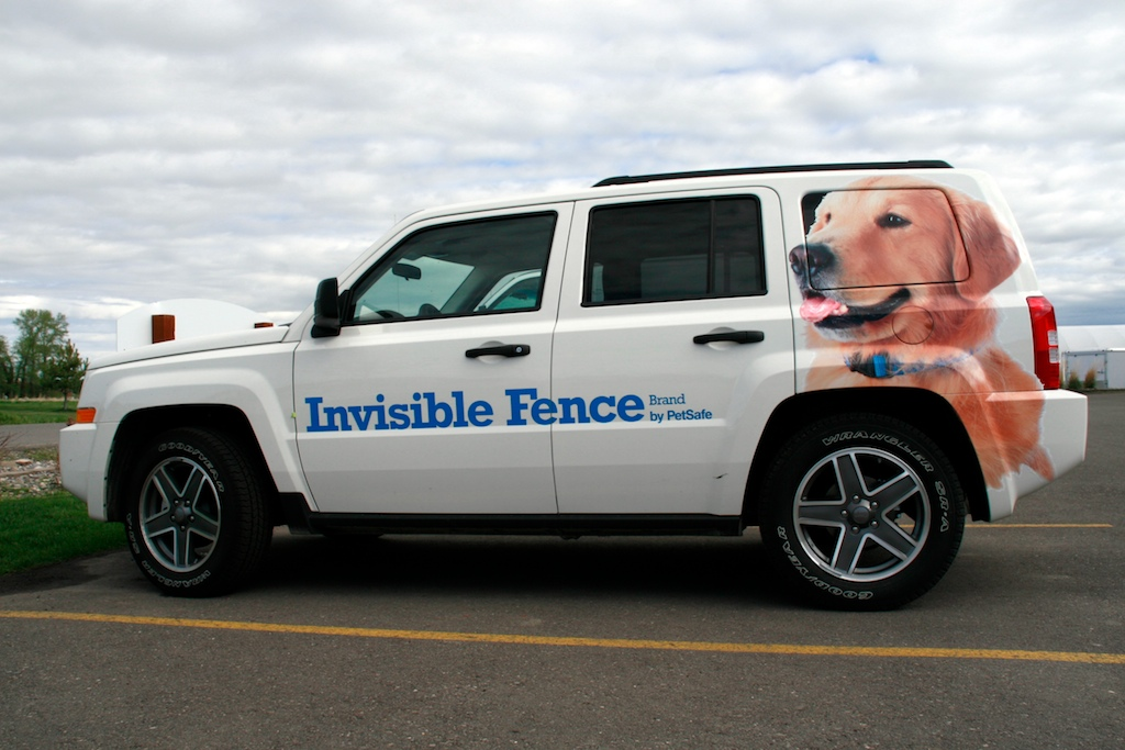 Invisible Fence Decals SCS Wraps LETS WRAP