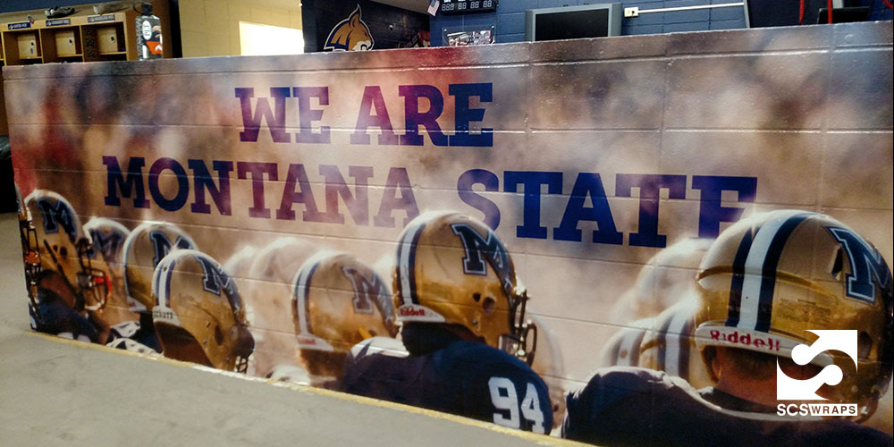 Montana State University Football Wall Wraps Scs Wraps