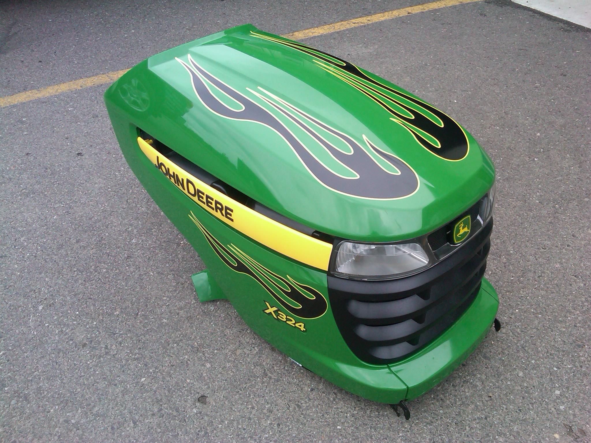John Deere Mower Flames 183 Let S Wrap