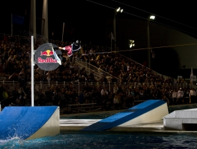 Nico Von Lerchenfield at the Red Bull Wake of Fame at the Fort Lauderdale Aquatic Complex.