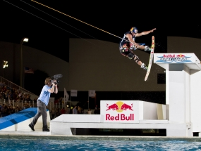 JD Webb at the Red Bull Wake of Fame at the Fort Lauderdale Aquatic Complex.
