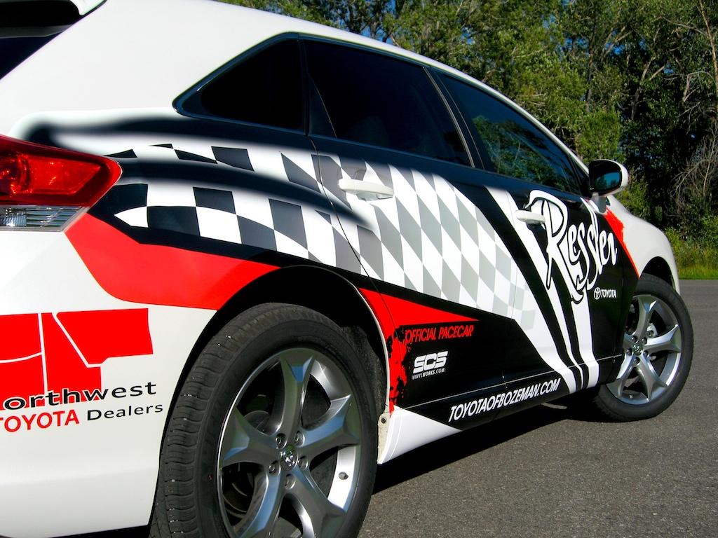 Design car wrap - Toyota Venza Pace Car Ressler 8