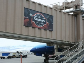 Simms Airport Jetway Sign