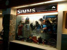 Simms Airport product display - Bozeman