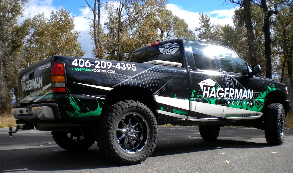 Roofing Vehicle Wrap : Pickup truck wrap · scs wraps