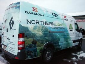 Northern Lights Service Van Wrap