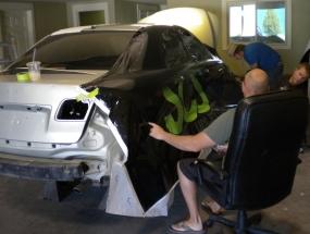 Car wrap install