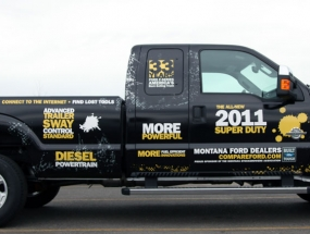 Mt. Stock Growers Ford pickup wrap