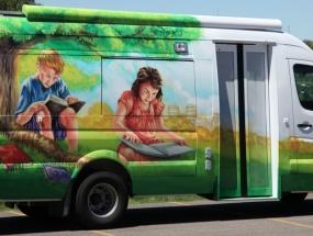 Bookmobile sprinter van wrap