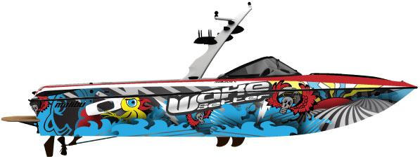 Boat Wrap Artwork