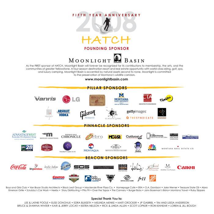 HATCH 2008  Sponsors Poster