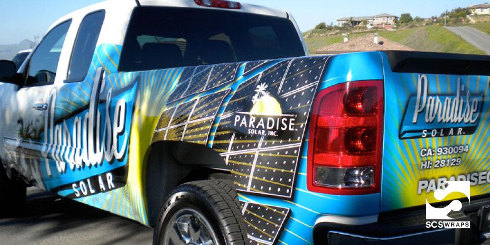 Paradise Solar Vehicle Wrap 183 Scs Wraps