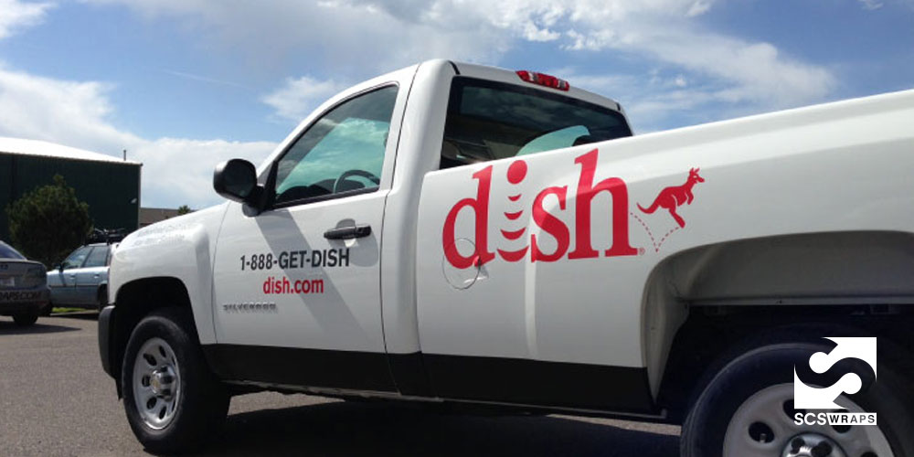 Dish Network Fleet Graphics SCS Wraps - Modern business vehicle decals