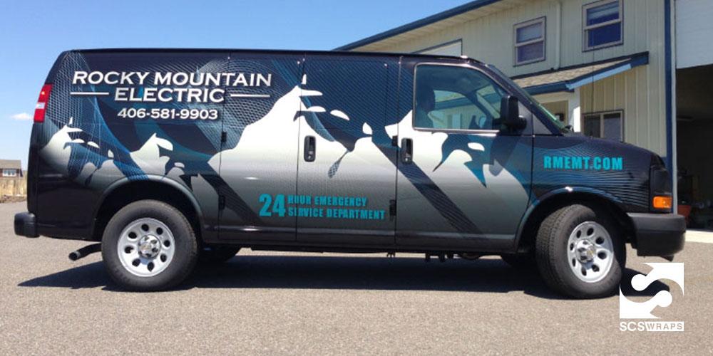 Rocky Mountain Electric Van Wrap · SCS Wraps