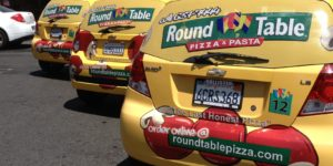 Round Table Pizza - Wrap Fleet Rear