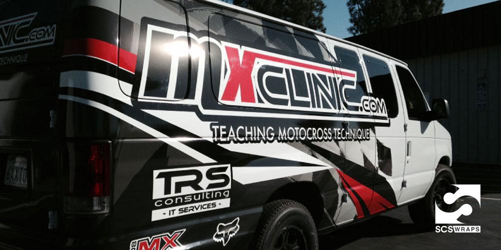 Mercedes Sprinter Work Vans >> MX Clinic Van Wrap · SCS Wraps
