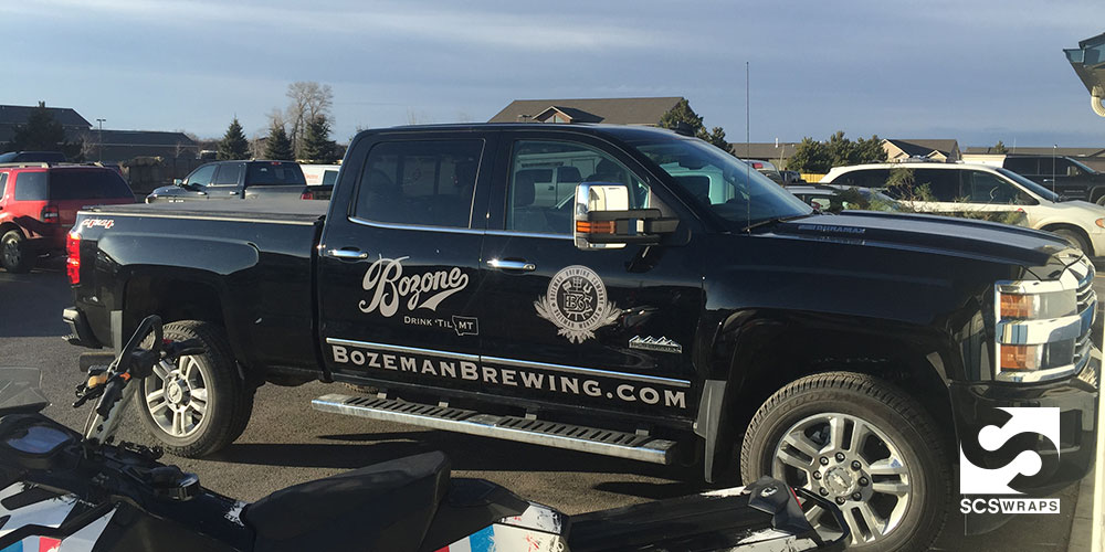 Bozeman Brewing Truck Decals SCS Wraps - Business vehicle decals
