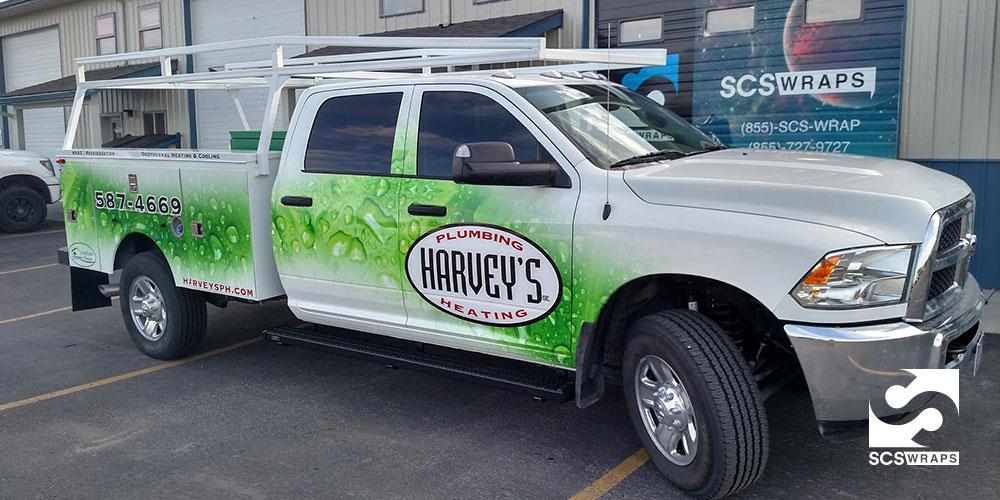 Harveys Plumbing Truck Wrap