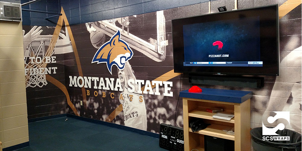 Montana State University Basketball Wall Wraps 183 Scs Wraps