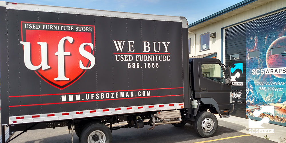 Used Furniture Store Vehicle Wrap 183 Scs Wraps