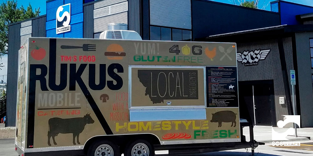 Tim's Food Rukus Food Truck Trail Wrap