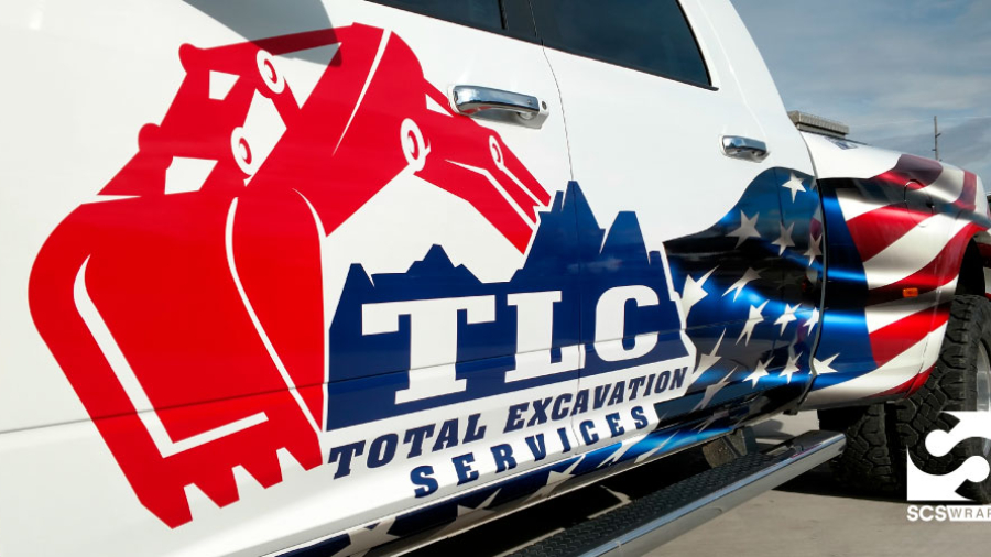 TLC Excavation Fleet Graphics and Branding