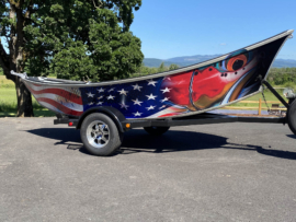 DeYoung Steelhead / American Flag Boat Wrap Profile