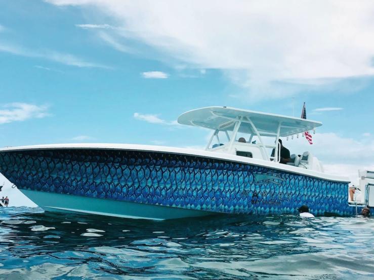 Napels Bay Marina – Scuba Snorkel Boat Tarpon Scales Boat Wrap