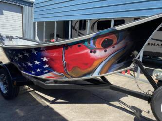 DeYoung Steelhead - American Flag Drift Boat Wrap